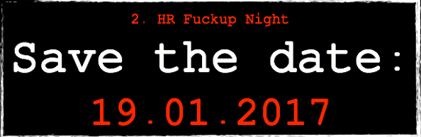 Save the Date - 2. HR Fuckup Night